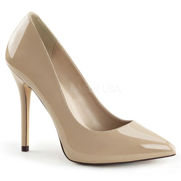 Klassische High-Heel Pumps in nude Lack AMUSE-20